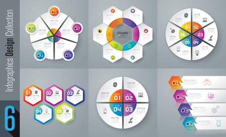 Ilustración de Set of infographic design vector and business icons. - Imagen libre de derechos