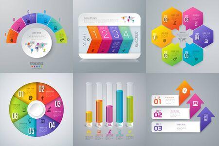 Illustration pour Set of infographics design  and business icons. - image libre de droit