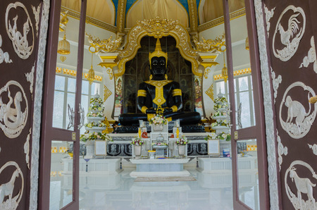 Buddha statue in white pagoda Wat Thung Setthi temple at thailand