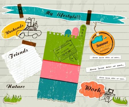 Ilustración de scrapbook details set. - Imagen libre de derechos