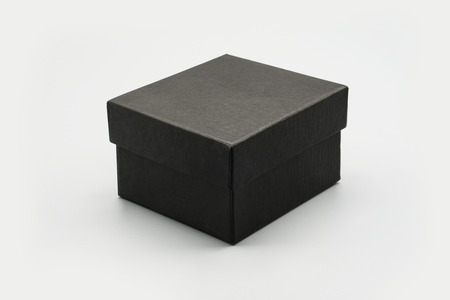 Foto de black box mock up white isolated background - Imagen libre de derechos