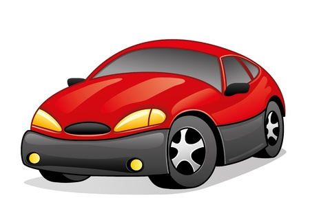 Vector  Red car isolated