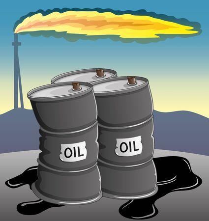 Vector illustration  Barrels