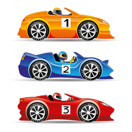 Illustration for Racing cars. - Royalty Free Image