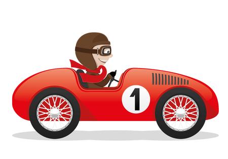 Illustration pour Red car. - image libre de droit