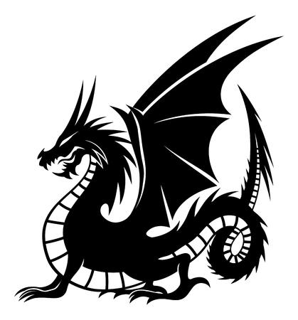 Illustration pour Black dragon sign. - image libre de droit