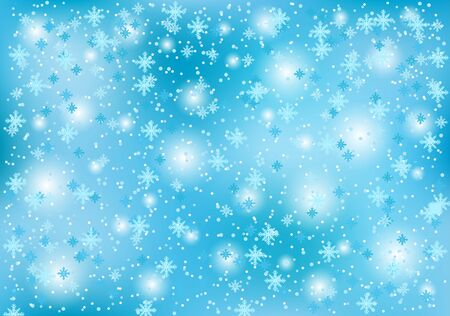 Illustration for Winter christmas background with snowflakes on a blue background. - Royalty Free Image