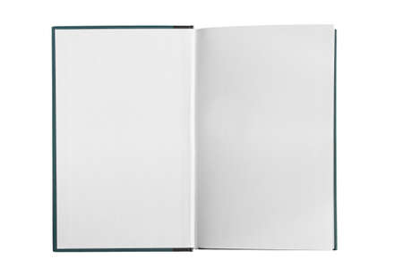 Photo for Opened blank white book pages isolated over white - Royalty Free Image