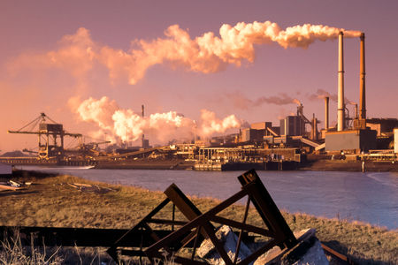 Photo for Steel industry in IJmuiden near Amsterdam in the Netherlands - Royalty Free Image