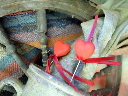 Red hearts to the Valentin's day