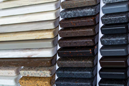 Photo for Artificial stone, decorative stone in samples. Concept, layout, finishing material - Royalty Free Image