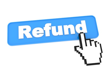 Social Media Button - Refund. Isolated on White Background.