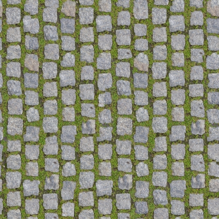 Stone Block with Grass - Seamless Background   more seamless backgrounds in my folio