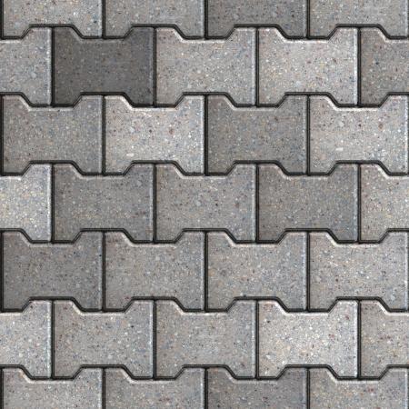 Gray Figured Paving Slabs. Seamless Tileable Texture.