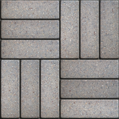 Gray Pavement of Rectangles Laid Out on Three Pieces Perpendicular to Each Other. Seamless Tileable Texture.