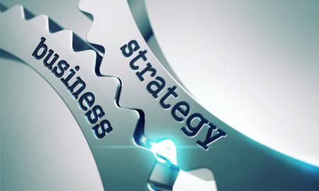 Foto de Business Strategy on the Mechanism of Metal Cogwheels. - Imagen libre de derechos