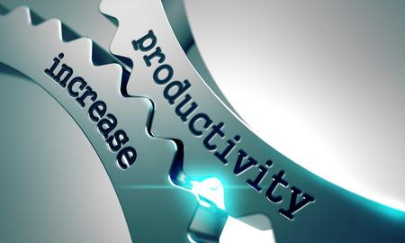 Photo pour Productivity Increase on the Mechanism of Metal Gears. - image libre de droit