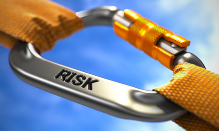 Risk on Chrome Carabine with Orange Ropes. Focus on the Carabine.