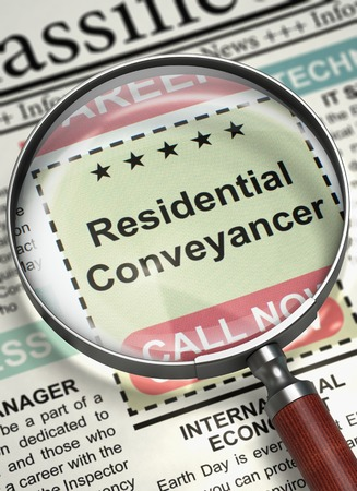 Residential Conveyancer Join Our Team. 3D.