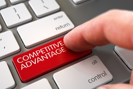 Competitive Advantage - Modern Keyboard Concept. 3D.