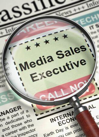 Were Hiring Media Sales Executive. 3D.