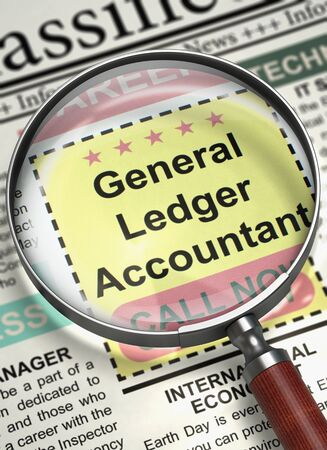 Were Hiring General Ledger Accountant. 3D.
