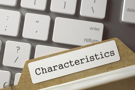 Folder Index - Characteristics. 3d.