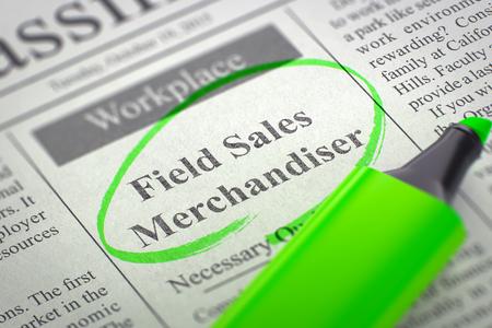 Field Sales Merchandiser Join Our Team. 3d