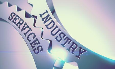 Photo pour Industry Services - Mechanism of Metal Cog Gears. 3D. - image libre de droit