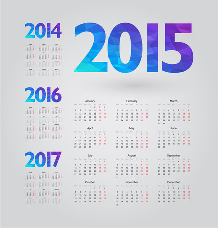 simple calendar with figures of geometric shapes: Royalty-free