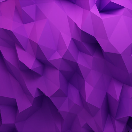 3d abstract geometric background, purple polygon shapes