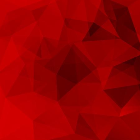 Illustration pour Geometric pattern, polygon triangles vector background in dark red tones. Illustration pattern - image libre de droit