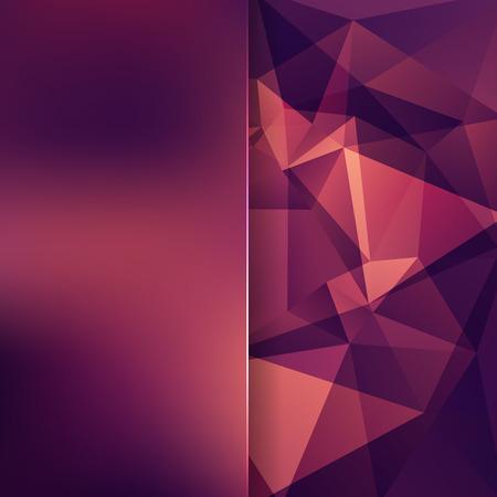 Foto de abstract background consisting of purple, orange, brown triangles and matt glass, vector illustration - Imagen libre de derechos