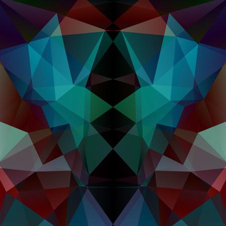 Illustration pour Abstract mosaic background.  Triangle geometric background. Design elements. Vector illustration - image libre de droit