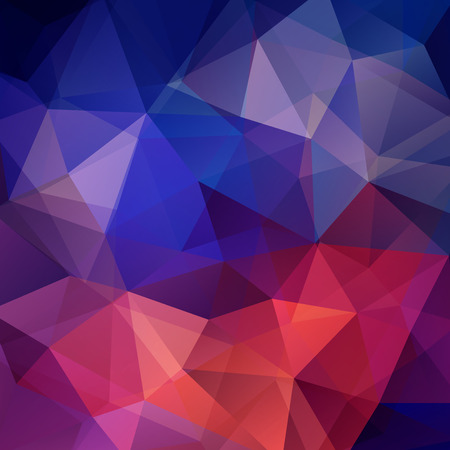 Illustration pour Background made of triangles. Square composition with geometric shapes. Eps 10 - image libre de droit