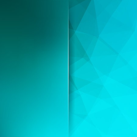 Illustration pour Abstract geometric style blue background. Blue business background Blur background with glass. Vector illustration - image libre de droit