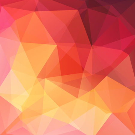 Illustration for Abstract mosaic background. Triangle geometric background. Design elements. Vector illustration. Yellow, orange, red colors. - Royalty Free Image