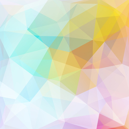 Illustration pour Geometric pattern, polygon triangles vector background in pink, yellow, white, blue tones. Illustration pattern - image libre de droit
