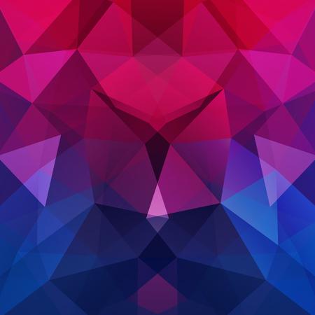 Illustration pour Abstract mosaic background. Triangle geometric background. Design elements. Vector illustration. Pink, purple, blue colors. - image libre de droit