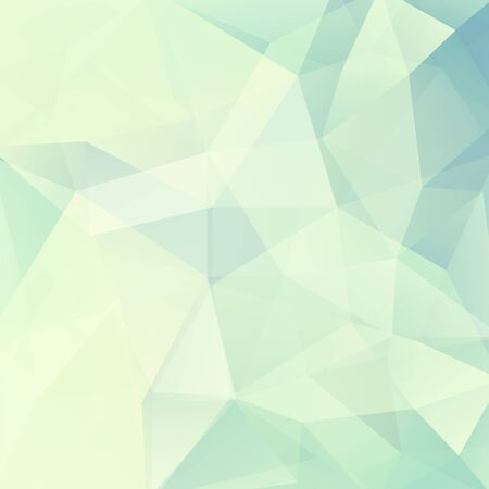 Illustration pour Geometric pattern, polygon triangles vector background in white, green and blue tones. Illustration pattern. Light background. Pastel background - image libre de droit