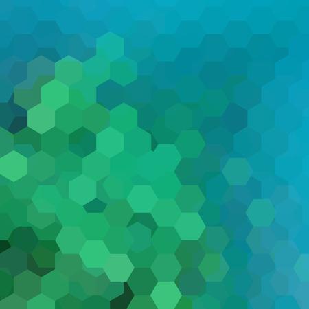 Illustration pour Abstract hexagons vector background. Blue, green geometric vector illustration. Creative design template. - image libre de droit