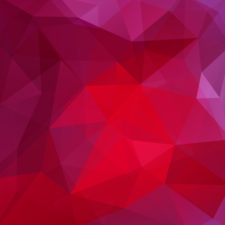 Illustration pour Background of pink, purple geometric shapes. Red mosaic pattern. Vector illustration - image libre de droit