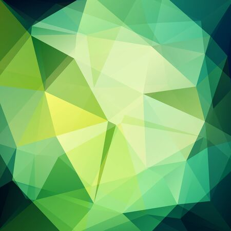 Illustration pour Background made of triangles. Square composition with geometric shapes. Green color. - image libre de droit