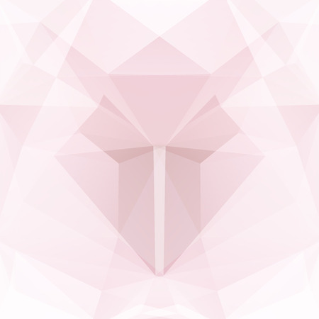 Illustration pour Polygonal vector background. Can be used in cover design, book design, website background. Vector illustration. Pink, white colors. - image libre de droit