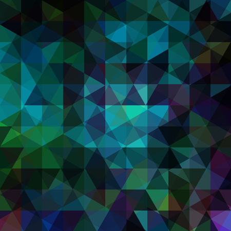 Abstract Vector Background With Green Black Blue Triangles