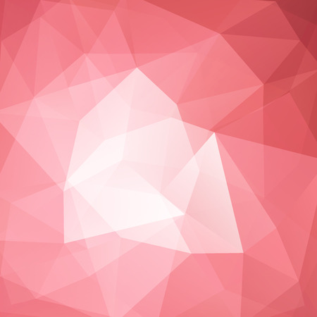 Illustration pour Background made of pastel pink triangles. Square composition with geometric shapes. - image libre de droit