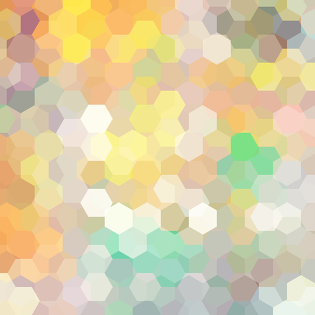 Illustration pour Vector background with pastel yellow, beige, gray hexagons. Can be used in cover design, book design, website background. Vector illustration - image libre de droit