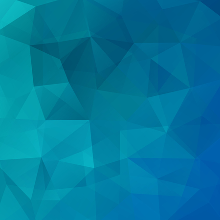 Illustration for Geometric pattern, polygon triangles vector background in blue tone. Illustration pattern - Royalty Free Image