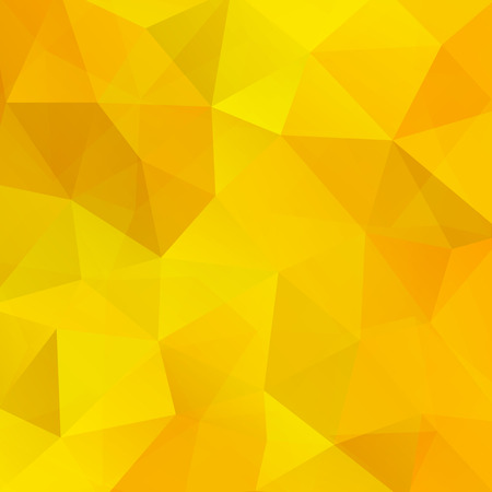 Illustration for Background made of yellow triangles. Square composition with geometric shapes. - Royalty Free Image