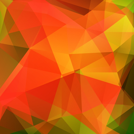 Illustration for Orange polygonal vector background. Can be used in cover design, book design, website background. Vector illustration - Royalty Free Image